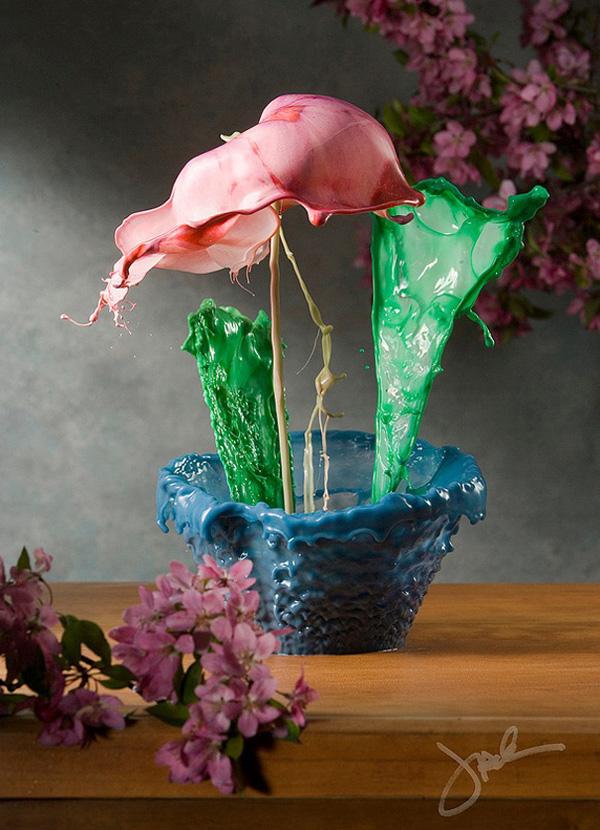 Джек Лонг и его цветы из брызг