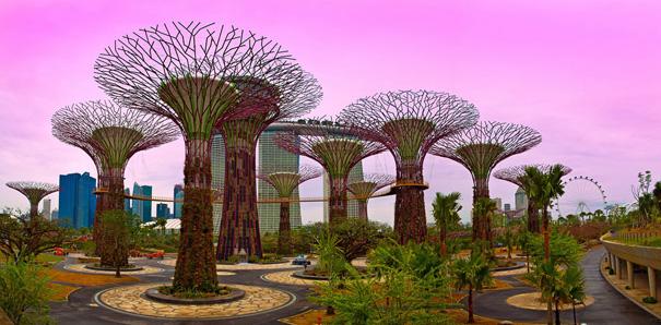 Футуристический ботанический парк Сады у залива