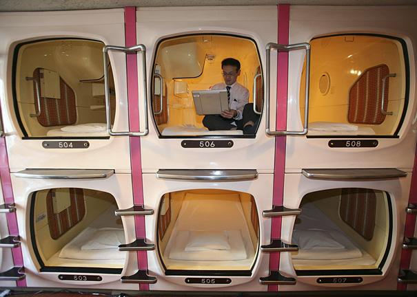 Капсульный отель 9 Hours Hotel в Японии