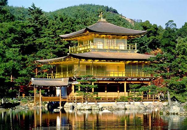 Золотой павильон Кинкаку-дзи в Киото