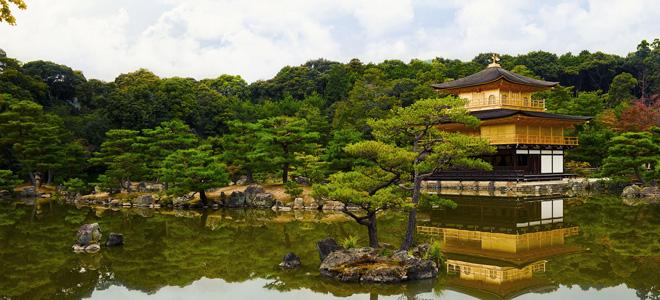 Золотой павильон Кинкаку-дзи в Киото (11 фото)