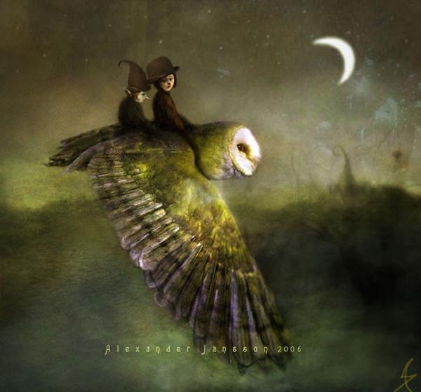 Александр Янссон и его печальные сказочные миры (33)
