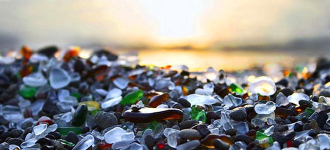 Стеклянный пляж в Калифорнии (11 фото)