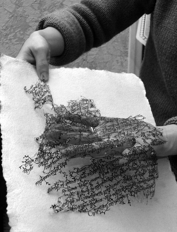Хина Аояма и ее кружева из бумаги