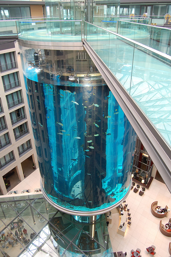 АкваДом самый большой цилиндрический аквариум