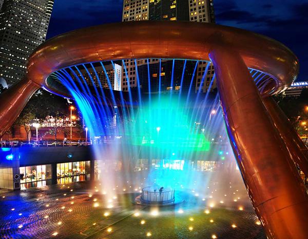 Фонтан Богатства в Сингапуре