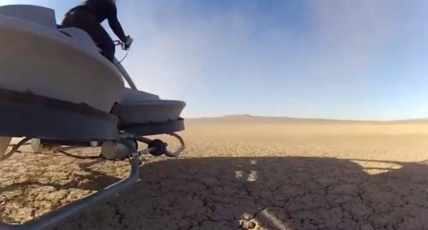 Первый летающий мотоцикл Hoverbike