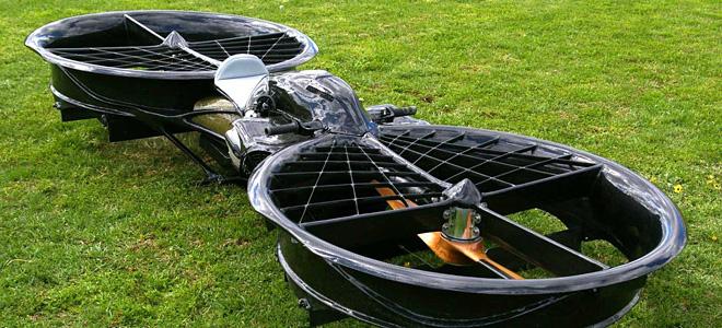 Крисс Маллой и его летающий мотоцикл Hoverbike (9 фото)