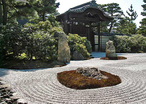 Сад камней Рёандзи в Киото