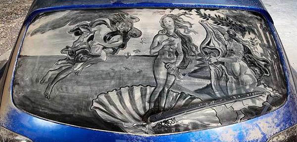 Скотт Уэйд и его пыльные рисунки
