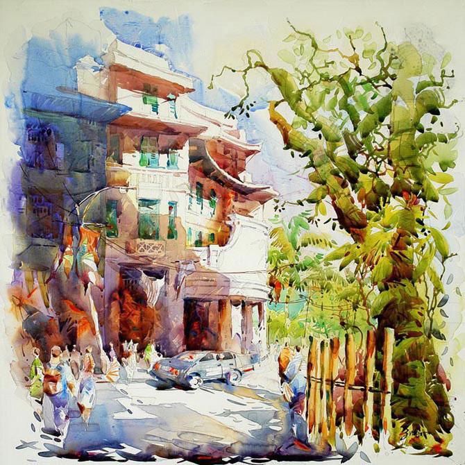 Джек Тиа Ки Вун и его солнечные акварели (7)