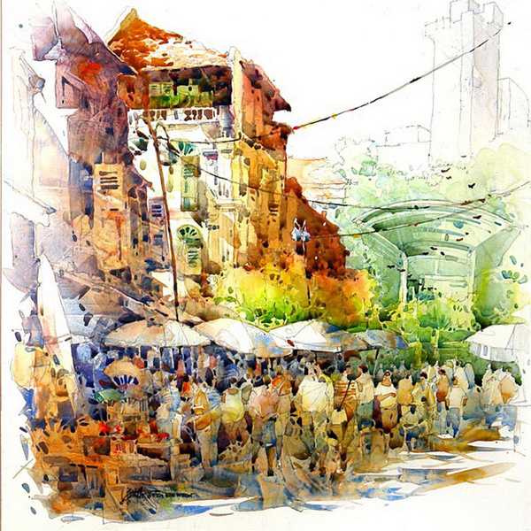 Джек Тиа Ки Вун и его солнечные акварели (10)