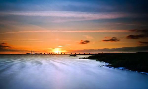Эресуннский мост-тоннель между Данией и Швецией