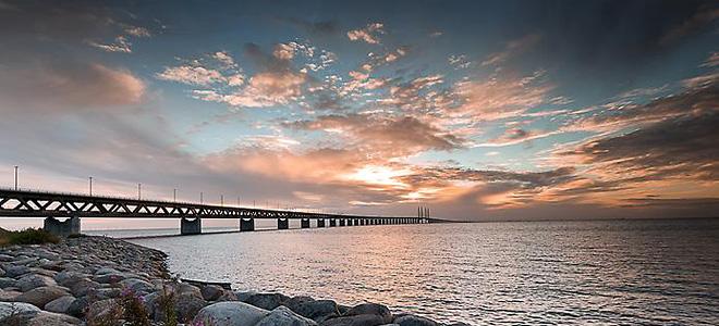 Эресуннский мост-тоннель между Данией и Швецией (7 фото)