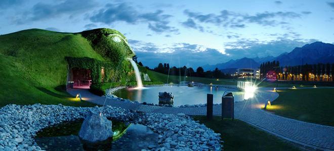 Кристаллические миры Сваровски в Австрии (13 фото)