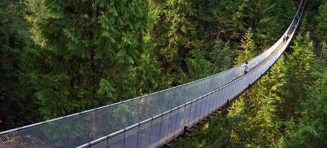 Подвесной мост Капилано в Канаде (9 фото)
