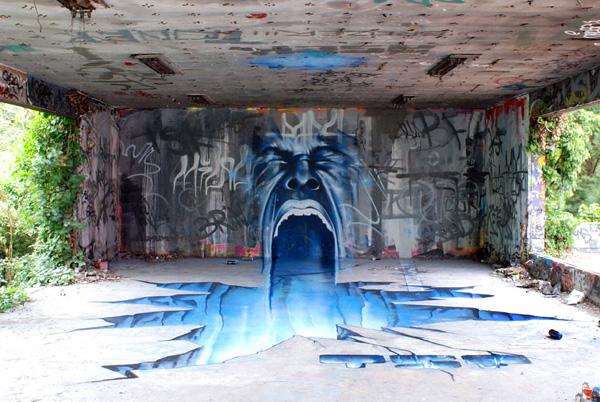 Анаморфное граффити от TSF Crew