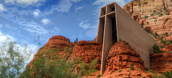 Chapel In The Rock — часовня в скалах Аризоны (5 фото)