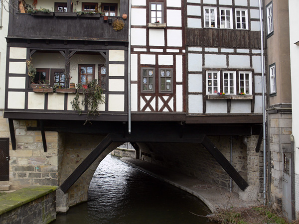 Мост Лавочников Кремербрюке в Эрфурте