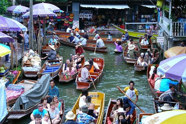 Рынок Дамноен Садуак в Бангкоке (11)