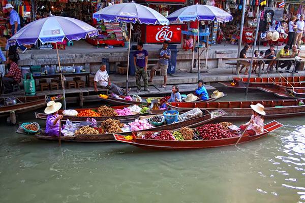 Рынок Дамноен Садуак в Бангкоке (10)