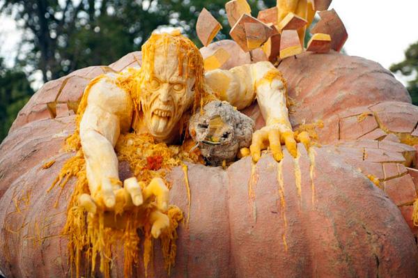 Рэй Виллафэйн и его скульптуры из тыкв
