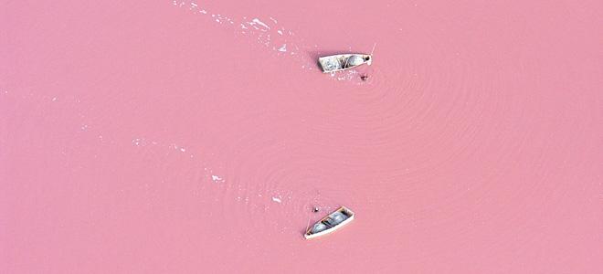 Розовое озеро Ретба в Сенегале (9 фото)