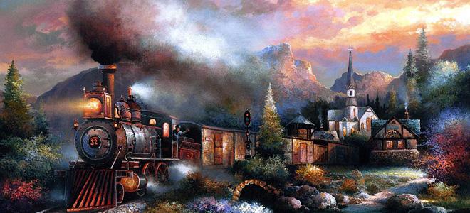 Джеймс Ли и его сказочная живопись (11 фото)