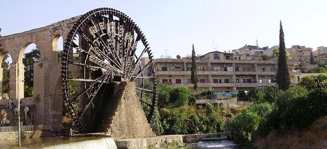Водяные мельницы города Хама в Сирии (13 фото)