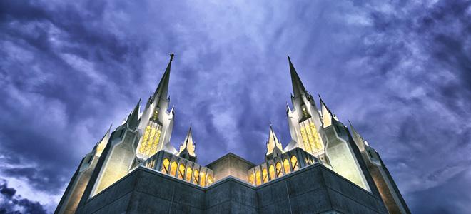 Калифорнийский храм мормонов в Сан-Диего (9 фото)