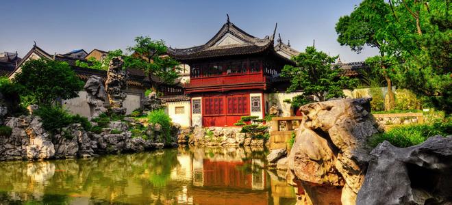 Юйюань — Сад Радости в центре Шанхая (19 фото)