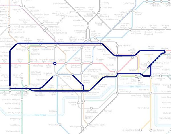 Животные на схеме лондонского метрополитена (25)