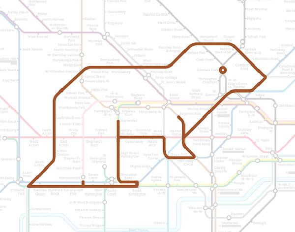 Животные на схеме лондонского метрополитена (16)