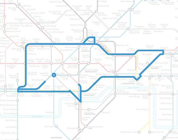 Животные на схеме лондонского метрополитена (15)