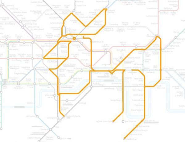 Животные на схеме лондонского метрополитена (14)