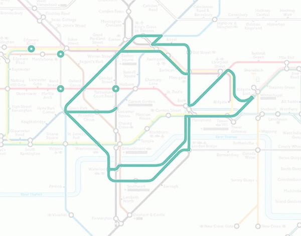 Животные на схеме лондонского метрополитена (10)