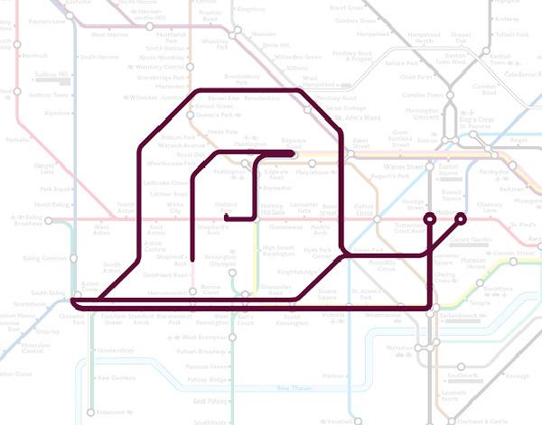 Животные на схеме лондонского метрополитена (8)