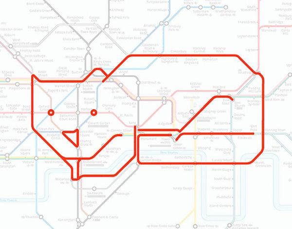 Животные на схеме лондонского метрополитена (7)