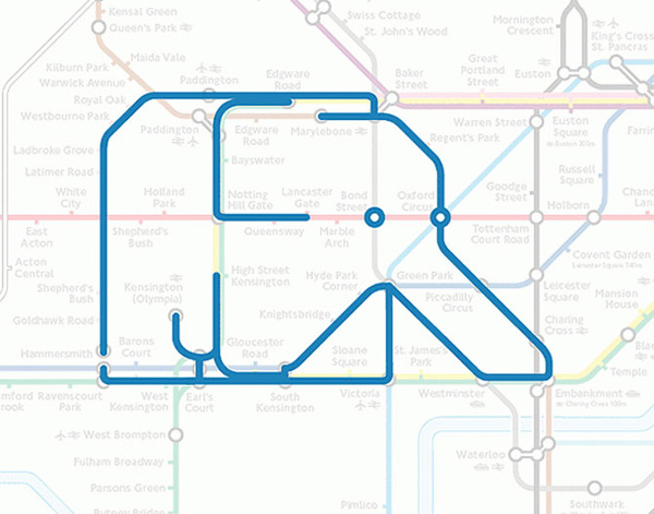 Животные на схеме лондонского метрополитена (5)