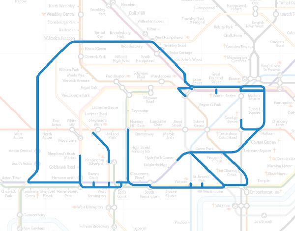 Животные на схеме лондонского метрополитена (4)