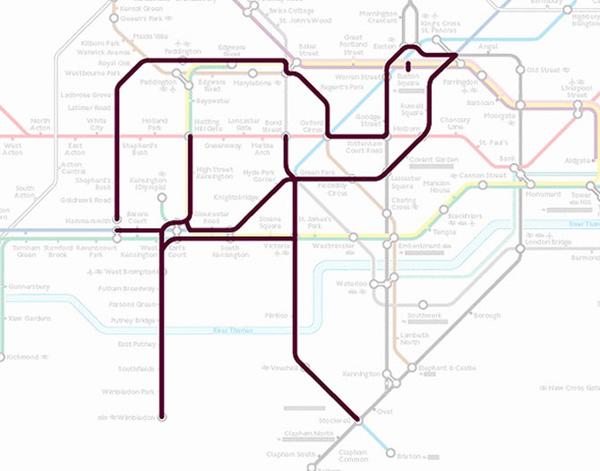 Животные на схеме лондонского метрополитена (2)