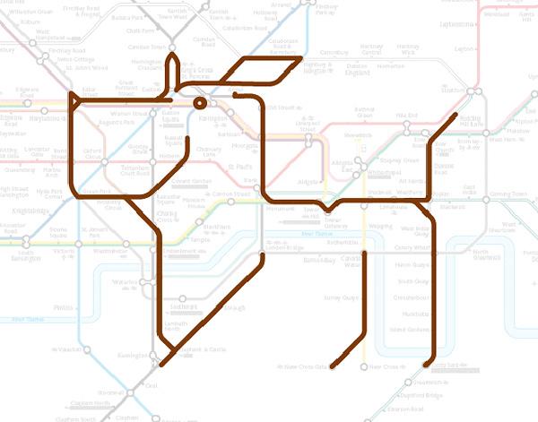 Животные на схеме лондонского