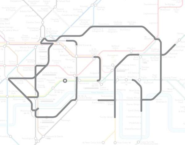 Животные на схеме лондонского метрополитена (23)
