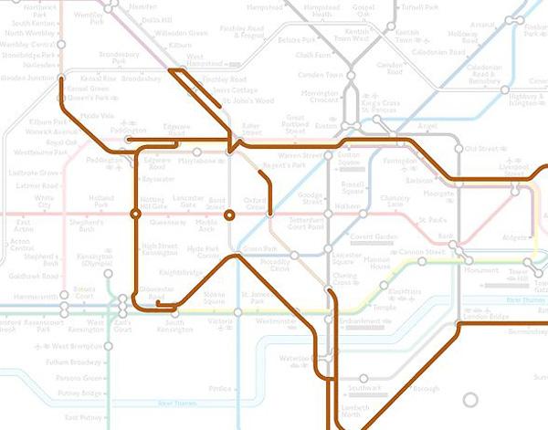 Животные на схеме лондонского метрополитена (22)