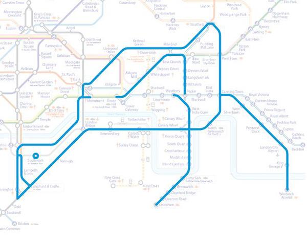 Животные на схеме лондонского метрополитена (21)