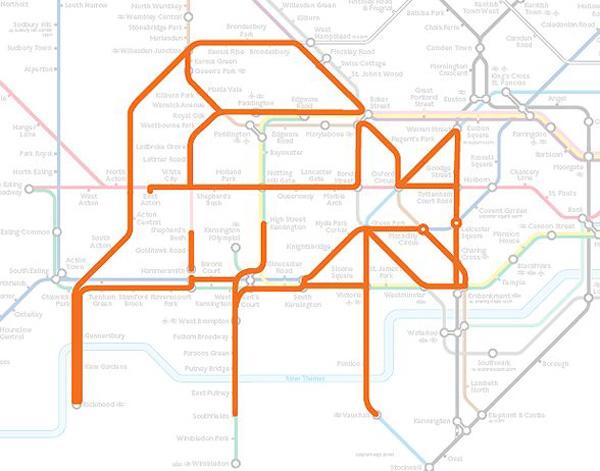 Животные на схеме лондонского метрополитена (20)