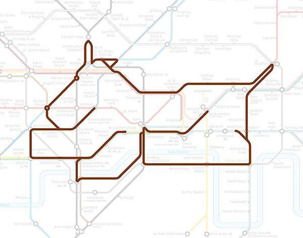 Животные на схеме лондонского метрополитена (18)