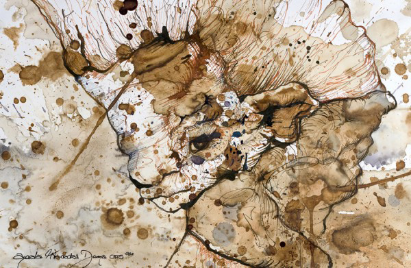 Анджела Отто и ее рисунки пятнами