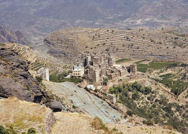 Город Аль Хаджара в Йемене