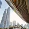 Круглый пешеходный мост в Шанхае (9 фото)